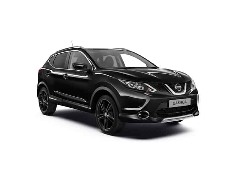 874538b QASHQAI 2016 SV - RHD 3 4 Front View Black Edition