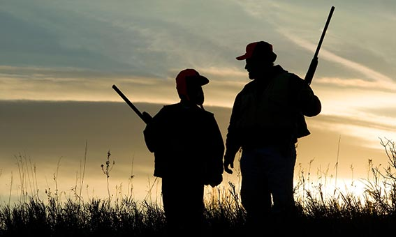 Dad and Son Hunting